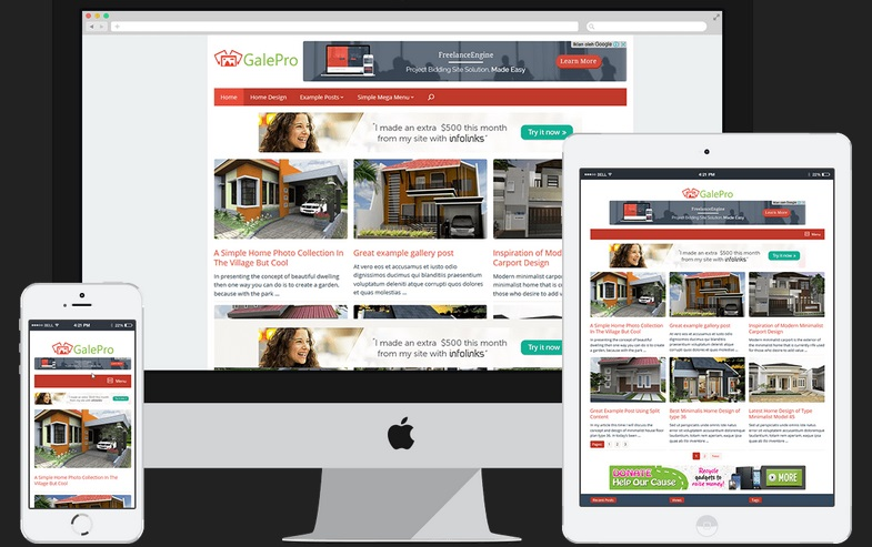 Review Galepro Theme Wordpress Super Cepat